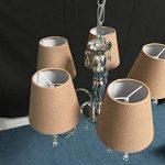Lot de 6 Pièces Abats-jour de Lampe en Tissu pour Lustre de Bougeoir (Chocolat) de la marque Doooitlight image 3 produit