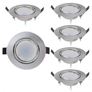 Lot de 6 Spot LED encastrable Ultra Plat avec 6 x 5 W Dimmable Ampoule 220V Spot Module, Orientable, Blanc Chaud 3000K, Ra>80, 120° Angle de faisceau de la marque HC LIGHT image 0 produit