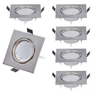 Lot de 6 Spot LED encastrable Ultra Plat Orientable avec 6 x 5 W Ampoule 230V Spot Module,Blanc Chaud 3000K, Ra>80, 120° Angle de faisceau, Carré, Orientable de la marque HC LIGHT image 0 produit