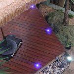 Lot de 6 Spots LED Éclairage extérieur Encastrable, IP67 DC 12V RGB/RVB Acier inoxydable- Décor pour Terrasse Jardin Cour Allée Couloir Lampe de Sécurité de la marque 7Colors image 4 produit
