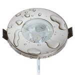 Lot de 6spots LED encastrables protection IP44de chrome avec module LED Spot 230V/5W–Blanc chaud 3000K–Angle d'éclairage 60°–pour pièces humides/salle de bains–Intensité variable–Spot encastrable rond pour spot encastrable en acier inoxyda image 1 produit