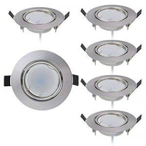 Lot de 6 spots LED encastrables ultra plats avec spot LED 230 V I 5 W 450 lm I Blanc neutre 4000 K I Angle d'éclairage 120° I Intensité variable I Orientable I Ø 70 mm I de la marque HC LIGHT image 0 produit