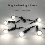 Lot de 8 LED Spots Encastrables, Lampe de Plafond Etanche IP67, Ampoules Intérieure et Extérieur1.5W en Acier Inoxydable, Plafonnier Encastré Blanc Chaud Naturel (2800-3200K) de la marque Riiai image 3 produit