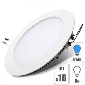 lot x10 Spot led downlight rond 6w encastrable slim blanc froid pour plafonnier extra plat TechBox de la marque TechBox image 0 produit