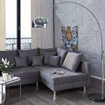 Lounge Deal Lampe Arc Pied en marbre noir Chrome extensible 170–210 cm de la marque Riess Ambiente image 1 produit