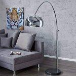 Lounge Deal Lampe Arc Pied en marbre noir Chrome extensible 170–210 cm de la marque Riess Ambiente image 2 produit