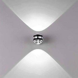 Louvra Applique Murale Intérieur LED 6W Lampe Décorative Moderne Créatif Originale Éclairage Design Lumiaire Aluminium pour Chambre Maison Couloir Salon Blanc Chaud de la marque Louvra image 0 produit