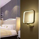 Louvra Applique Murale LED 15W Intérieure Lampe Décorative Moderne Créatif Éclairage Design Lumiaire en Aluminium pour Chambre Maison Couloir Salon - Blanc Chaud de la marque Louvra image 1 produit