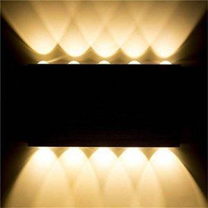 Louvra Applique Murale LED 30W Intérieure Lampe Décorative Moderne Créatif Éclairage Design Lumiaire en Aluminium pour Chambre Maison Couloir Salon Blanc Chaud de la marque Louvra image 0 produit