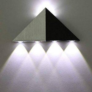 Louvra Applique Murale LED 5W Interieur Triangle Lampe Design Original Moderne Eclairage Décoratif en Aluminium Lumiaire pour Chambre Couloir Salon - Blanc Froid de la marque Lightess image 0 produit