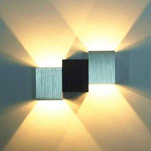 Louvra Applique Murale LED Intérieur 6W Lampe Décorative Moderne Créatif Originale Éclairage Design Lumiaire Aluminium pour Chambre Maison Couloir Salon Blanc Chaud de la marque Louvra image 0 produit