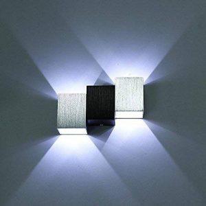 Louvra Applique Murale LED Intérieur 6W Lampe Décorative Moderne Créatif Originale Éclairage Design Lumiaire Aluminium pour Chambre Maison Couloir Salon Blanc Froid de la marque Louvra image 0 produit