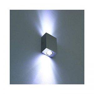 Louvra Applique Murale LED Intérieur 6W Lampe Design Moderne Créatif Originale Éclairage Lumiaire Décorative Aluminium pour Chambre Maison Couloir Salon Blanc Froid de la marque Louvra image 0 produit