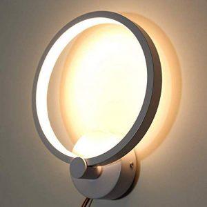 Louvra Applique Murale LED Intérieure 12W Lampe Décorative Moderne Créatif Éclairage Design Lumiaire en Aluminium pour Chambre Maison Couloir Salon Hotel Blanc Chaud de la marque Louvra image 0 produit