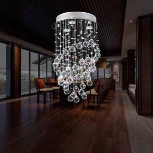 Louvra Cristal Plafonnier Lampe Moderne Finition Chromée Plafond Pendentif Éclairage Lumière Décoratif Désign Pour Salon Chambre Salle à Manger Bureau Chambre à Coucher Salon Hôtel de la marque Louvra image 0 produit