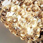 Louvra Plafonnier en Cristal Moderne Design Finition Chromée Eclairage de plafond Pendentif Plafonnier Luminaire Intérieur Chambre Bureau Salle à manger Salon Hôtel Restaurant Bar de la marque Louvra image 2 produit