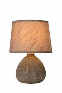 Lucide 47506/81/43 Ramzi Lampe de Table, Céramique, E14, 40 W, Brun, 18 x 18 x 26 cm de la marque Lucide image 0 produit