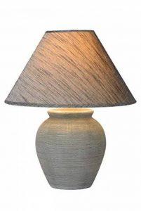 Lucide 47507/81/36 Ramzi Lampe de Table, Céramique, E27, 60 W, Gris, 34 x 34 x 42 cm de la marque Lucide image 0 produit