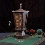 LUCKY CLOVER-A Lampe De Table Thaï En Bois Massif Tissage HôTel ÉClairage CréAtive RéTro Simple En Bois Chambre Chevet Lampe Du Sud-Est Asiatique Style Naturel de la marque LUCKY CLOVER-A image 2 produit