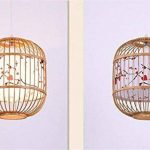 LUCKY CLOVER-A Peinture à l'encre classique chinoise à la main treillis en osier Lustre de plafond en bambou de rotin Abat-jour de lampe pendante Présents de pendaison de crémaillère de la marque LUCKY CLOVER-A image 3 produit