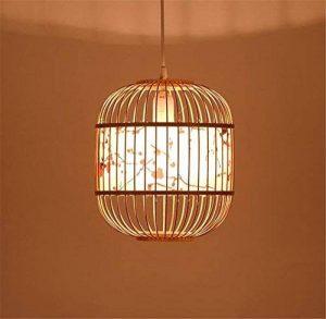 LUCKY CLOVER-A Peinture à l'encre classique chinoise à la main treillis en osier Lustre de plafond en bambou de rotin Abat-jour de lampe pendante Présents de pendaison de crémaillère de la marque LUCKY CLOVER-A image 0 produit
