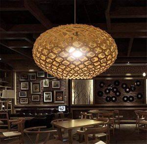 LUCKY CLOVER-ALampe suspendue Lanterne Plafonnier Industriel Loft Rustique Chanvre Corde Plafonnier Lampe Lustre Café Décor , A de la marque LUCKY CLOVER-A image 0 produit