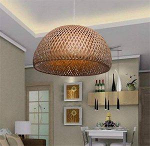 LUCKY CLOVER-APlafonnier Lampe suspendue Chandelier Abat-jour Rotin en osier Fait main Loft Decor Éclairage de style country rétro de la marque LUCKY CLOVER-A image 0 produit