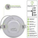 Lumare LED Spot à Encastrer Extra Plat 6W 450lumen 230V IP44 Blanc chaud pour salle de bain et salon Spot rond pièce de bain avec 3 pièce de la marque Lumare image 3 produit