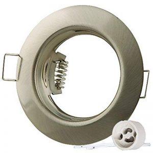 Lumi Lot de 12cadres de montage pour spot encastrable SD-863 «acier inoxydablebrossé » avec douille GU10 de la marque Lumi image 0 produit