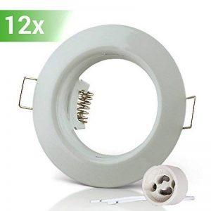 Lumi Lot de 12x cadres à encastrer pour spot encastrable SD-863 «Blanc» avec douille GU10 de la marque Lumi image 0 produit