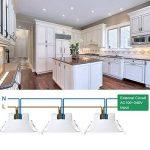 Lumiere Plafonnier Spot a LED Encastrable de Plafond LED 10W 220V pour Salle de Bain et Cuisine Blanc Froid 5000K Trou de Plafond Φ90-105MM Lot de 1 de Enuotek de la marque ENUOTEK image 2 produit