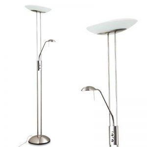 Luminaire LED tamisable avec liseuse LED tamisable nickel de la marque hofstein image 0 produit