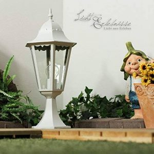 Luminaire Petit Lampadaire Extérieur / Lanterne De Jardin / Classique Lampe Sur Pied / Blanc / IP44 / 2/2/317 de la marque Licht-Erlebnisse image 0 produit