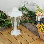 Luminaire Petit Lampadaire Extérieur / Lanterne De Jardin / Classique Lampe Sur Pied / Blanc / IP44 / 2/2/317 de la marque Licht-Erlebnisse image 2 produit