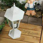 Luminaire Petit Lampadaire Extérieur / Lanterne De Jardin / Classique Lampe Sur Pied / Blanc / IP44 / 2/2/317 de la marque Licht-Erlebnisse image 3 produit