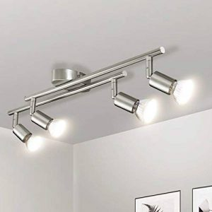 Luminaire Plafonnier LED, Gr4tec Applique Lampe Spots de Plafond Salon Salle de Bain Cuisine Salle a Manger GU10 4W 400Lm Blanc Chaud Nickel Mat de la marque Gr4tec image 0 produit