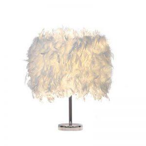 luminaire plume,lampe de chevet, chambre vintage chambre Décoration de maison, lampe de table moderne, lampe de chevet blanc de la marque Goannra image 0 produit