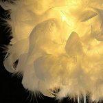 luminaire plume,lampe de chevet, chambre vintage chambre Décoration de maison, lampe de table moderne, lampe de chevet blanc de la marque Goannra image 3 produit