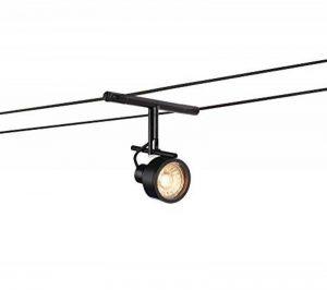 Luminaire sur cable SALUNA pour système de cable basse tension TENSEO, QR-C51, noir de la marque SLV image 0 produit