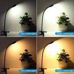 【Lumière Blanche Chaude et Froide】AMIR Lampe de Lecture, Lampe de Chevet Flexible, Lampe avec Pince, 2 Luminosités, 4 Modes de Lumière, Clip Sur Lampe USB pour Livre, Chevet et Bureau (Noir) de la marque AMIR image 1 produit