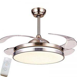 Lumière De Ventilateur De Plafond Dimmable De 42 Pouces Avec Télécommande Led Intérieure Rétractable Led Chrome Poli de la marque Torero X image 0 produit