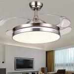 Lumière De Ventilateur De Plafond Dimmable De 42 Pouces Avec Télécommande Led Intérieure Rétractable Led Chrome Poli de la marque Torero X image 2 produit