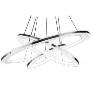 lumière pendentif design moderne a conduit vivre trois anneaux blanc chaud de la marque Ouku image 0 produit
