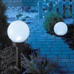 Lunartec - Borne lumineuse sphérique solaires à LED, Ø 20 cm, blanc lumière du jour de la marque Lunartec image 3 produit