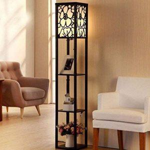 LUO Lampadaire Lampadaire Moderne Salon Chambre Bureau Plancher Bois Plancher Lampadaire (L26Cm W26Cm H160Cm) de la marque LUO image 0 produit