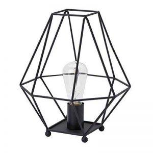 Lussiol, lampe à poser rétro/vintage Albany en métal filaire noir - L 26 x H33 cm - E27 40W de la marque Lussiol image 0 produit