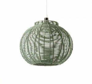 Lussiol - Luminaire Suspension en Rotin - Diam 30 x H23 cm - E27 60W … (Vert) de la marque image 0 produit