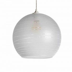 Lussiol - Suspension Shadow - Boule en Verre Diam 30 x H27 cm - E27 50W (Blanc) de la marque LUSSIOL image 0 produit