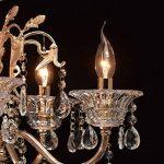Lustre Chic à 8 Lampes Bougies de Style Baroque en Métal couleur Or décoré de Pampilles en Cristal et Verre Gravé pour Salon Salle à Manger Hall d'Entrée 8x40W E14 de la marque MW-Light image 4 produit