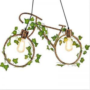 Lustre de bicyclette, loft rétro vieux restaurant bar lustre en fer style industriel lustre créatif de bicyclette de chambre Taille: 68 * 45cm de la marque Lihuideng image 0 produit